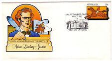 "1983 PictPMK. Dingley Dell Cottage PMK on Adam Lindsay Gordon PSE. ""MT GAMBIER"""