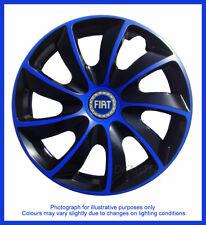 """15"""" COPRICERCHI ADATTO FIAT GRANDE PUNTO-Nero/Blu 4x15''"""