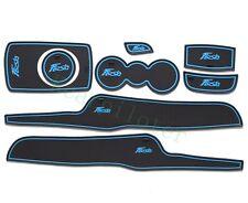8pcs Fiesta Car Non-slip Door Cup Holder Rubber Mats Fiesta 2009-14 Blue