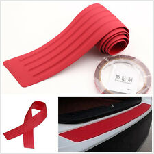 Red Car SUV Off-Road Rear Bumper Sill Scratch Protector Trim Cover Pad 90cmx8cm