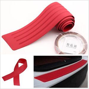 Red Car SUV Off-Road Rear Bumper Sill Scratch Protector Trim Cover Pad 90cmx8cm