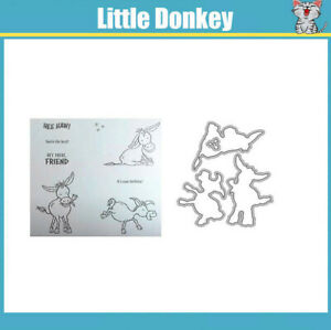 Little Donkey Set Metal Cutting Dies and Stamps For Scrapbooking