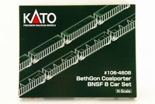 KATO N scale #106-4608 BethGon Coalporter BNSF 8 Car Set !!