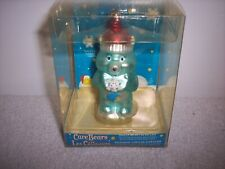 "Care Bear Glass Ornament Green Wish Bedtime Bear Moon & Stars 4"" Tall 2005~NEW"