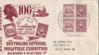 AFD1860) Australia 1950 FDC, Anpex, Centenary 1850-1950 first adhesive postage s