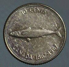 1967 Canada dime centennial fish 10 cent coins