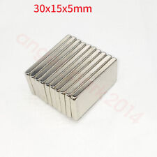 Wholesale 30mm x15mm x 5mm Block Strong Rare Earth Neodymium Magnets N50