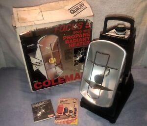 Coleman FOCUS 5 Propane Radiant Heater 3500-5000 BTU Dated 11/88 -- Works Great!