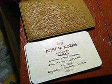 71916   6 POLITICAL  CAMPAIGN CARDS  JOHN NORRIS  FOR DELEGATE 1964  W CONTACTS