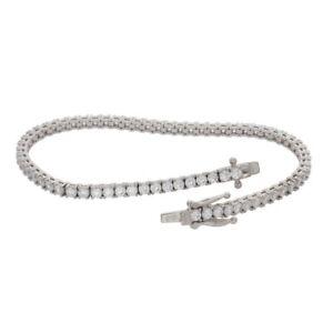 QVC Epiphany Platinum Clad Diamonique EndlessBrillian Tennis Bracelet