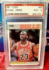 1987 Fleer #59 Michael Jordan PSA 9