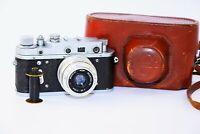 Rare Zorki-2C (S) VINTAGE USSR Copy Leica Film Camera w/s lens industar-50 EXC