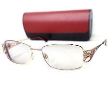CAZAL 1025 gold red purple rectangular eyeglasses frame