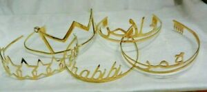 NEW DESIGNER AMBER SAKAI TIARA's HEADBANDS FESTIVE PARTY ARABIC 16K GOLD PLATED