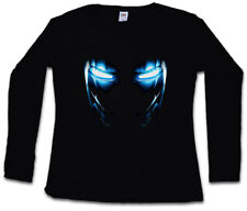 Mark II Armor Eyes Femmes Manches Longues T-shirt Tony Arc Reactor Iron Sign fortement 3 on