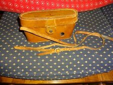 Vintage Kodak Brown Leather Camera Case With Snap Enclosure And Strap