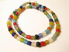 Recyclingglasperlen 6 - 7mm gemischt Krobo Recycling Powder Glass Beads Afrozip