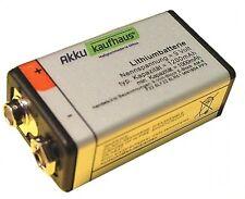 9 Volt / 1200mAh Rauchmelderbatterie Blockbatterie Lithium H2OLE Batterie
