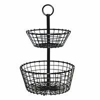 Member's Mark prod231701 Wire Grid 2-Tier Basket