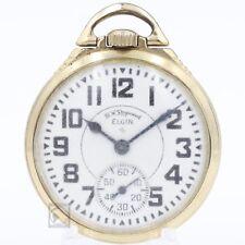 10k Gold 1952 Elgin 21 Jewel BW Raymond RAILROAD Grade Mechanical Pocket Watch
