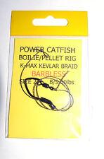 Power Catfish Boilie/Pellet Rig Barbless Hook Size 2 - Catfish