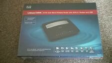 Linksys X3500 N750 DUAL BAND WIRELESS WI-FI ROUTER CON MODEM ADSL 2+/USB-NUOVO!