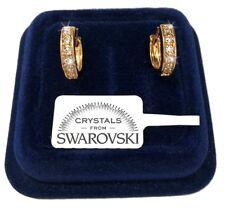 Orecchini Cerchio piccolo donna pl. oro Giallo 18K cristalli swarovski SW/25