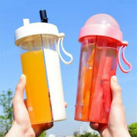 Dual-Use Separated Straw Water Bottle Portable Outdoor Sport Travel Drinking Cup