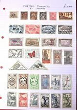 French Colonies.    Collection of 33 stamps.