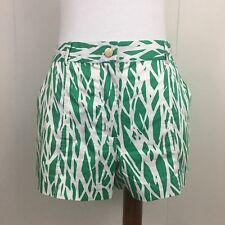Diane Von Furstenberg Green White Miggy Shorts In Twiggs Size 4