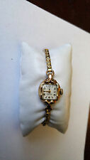 Vintage Women's Swiss Kent 10KGP Cocktail Watch W/ Matching Gold Filled Band