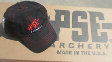 NEW PSE PRO SERIES ARCHERY BLACK AND RED BOW HUNTING TARGET SHOOTING HAT