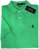 NEW $89 Polo Ralph Lauren Short Sleeve Classic Fit Shirt Mens Green Mesh NWT