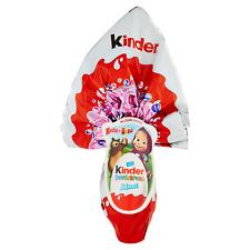 con SORPRESA vari personaggi Cioccolato al latte Uovo di Pasqua KINDER da 220 g