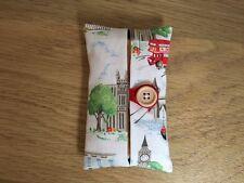 Handmade Packet Tissue Holder Made Using Cath Kidston White London Scene Fabric
