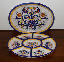 Deruta pottery antipasto set MADE PAINTED BY HAND
