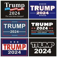 Trump 2024 Blue Vinyl Decal Bumper Sticker 4x7.5 inch