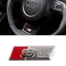 Audi S Line Chrom Lenkrad Abzeichen Emblem 3D Logo Aufkleber A4 A5 A6 Q7