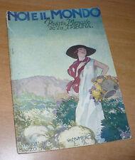 RIVISTA NOI E IL MONDO N.3 1926 MENSILE LA TRIBUNA COPERTINA A. TERZI CIRENAICA
