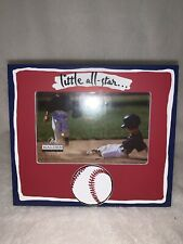 4 x 6 Little All Star Baseball Easel Back Picture Frame With Glass By Malden Int