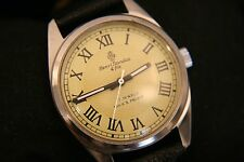 Vintage 1970's Restored Swiss 17J Sandoz & Fils military manual wind wristwatch