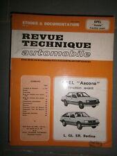Opel ASCONA 1.3S 1.6S 1.3N 1.6N : revue technique RTA 4241