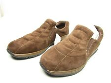 Earth Origins Womens Journey Bark Suede Water Resistant Slip On Loafers Size 10W