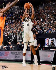Milw Bucks 2021 NBA Champ   KHRIS MIDDLETON Signed 16x20 Photo #1 AUTO JSA
