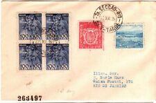 1939 Brazil Six Stamps on Cover - Semi-Postals Rio De Janeiro