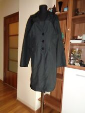 MAILLE DEMOISELLE BLACK NYLON LIGHTWEIGHT FITTED TRENCH COAT JACKET-SIZE L