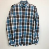 Roper Plaid Long Sleeve Button Down Shirt with Paisley Detail Mens Size Small