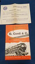 Rarità!!!! Catalogo Industria CONTI Bollate   CO.MO.GE. Treni elettrici.