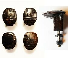 4 Railroad Spike Knobs Door Pulls Cupboard Dresser Drawer Antique Vintage Rustic