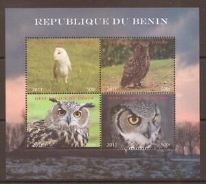 BENIN 2011 OWLS SHEETLET MNH  MNH